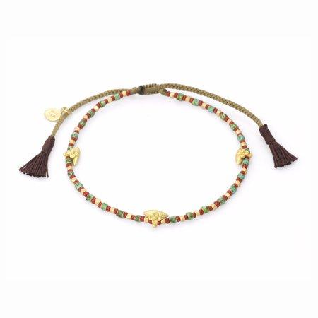 Vintage  TAI Mix Beaded Bracelet - Flower Beads