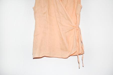Clan of Cro VINTAGE Sleevless Wrap Top - Orange