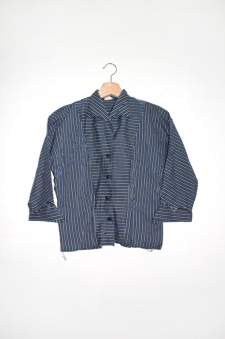 Clan of Cro VINTAGE 50's Striped Blouse - Blue