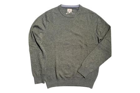 Faherty Brand Jackson Crew Sweater - Olive Heather