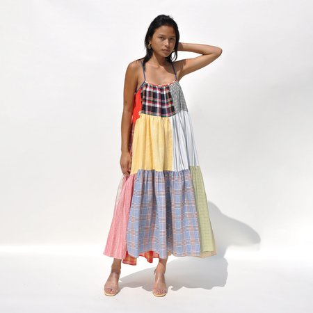 LA RÉUNION Vibrant Patchwork Dress No. 38