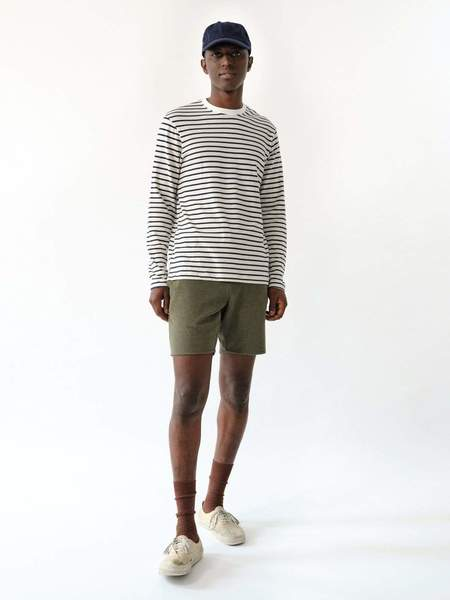 MAGILL Jacob Long Sleeve T-Shirt - Ivory/Navy Stripe