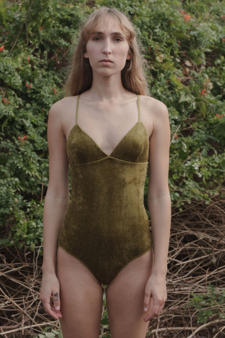 Baserange Mississippi Bodysuit - Galti Green