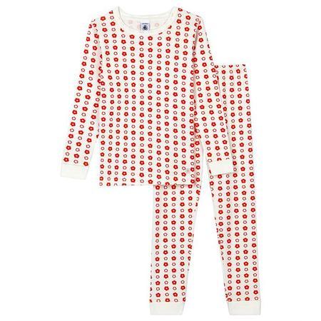 Kids Petit Bateau Child Triolette Pyjamas Set - Orange