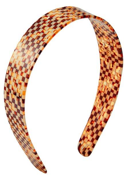 Machete Wide Headband - Tortoise Checker