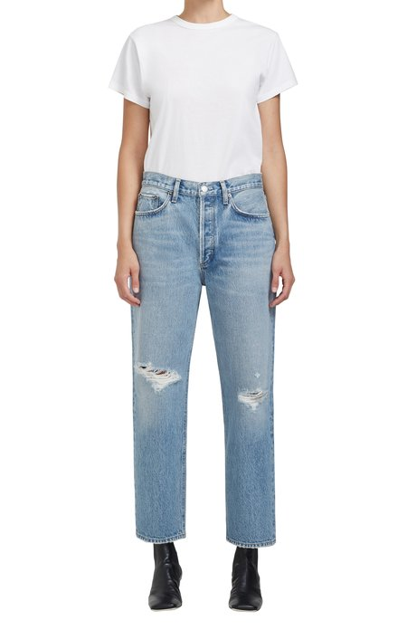 AGOLDE Lana Crop Mid Rise Jean - Cornerstone