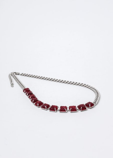 DEPARTMENT Candy Necklace - Silver/Red