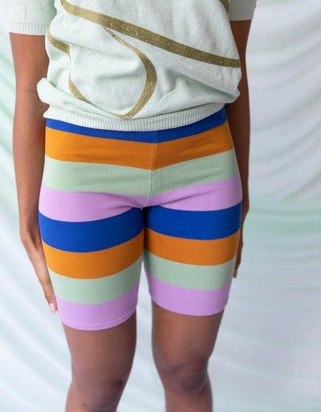 Find Me Now Bexley Biker Short - Multi Stripe