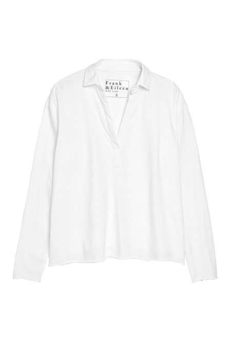 Tee Lab Popover Henley TOP - White