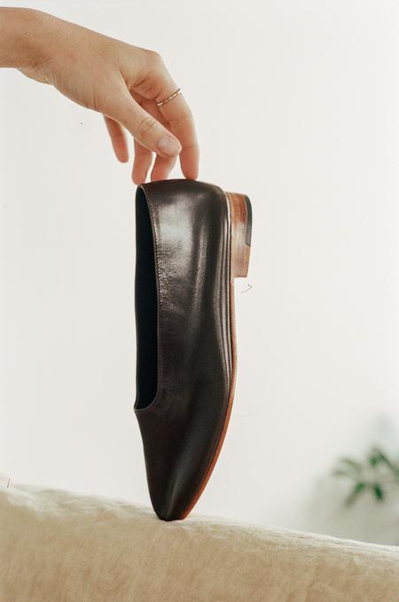 Martiniano Glove BALLET FLATS - Dark Umber