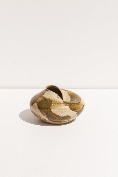 Glost Studios Sunken Vase - Khaki paint