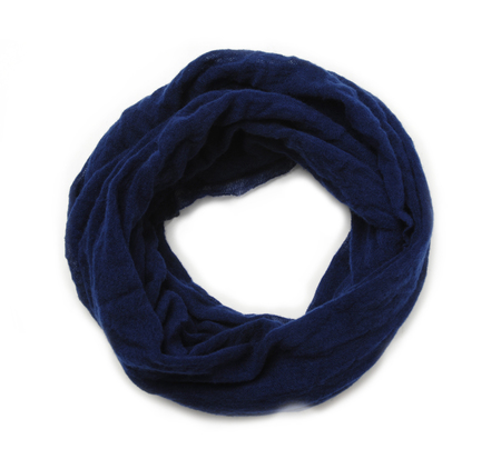 Botto Giuseppe Dark Blue Cashmere Tube Scarf