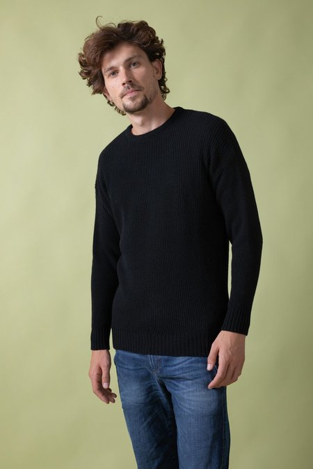 rifo recycled cashmere italo sweater - black