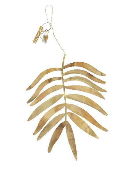 Walther & Co Palm Leaf decor - Brass