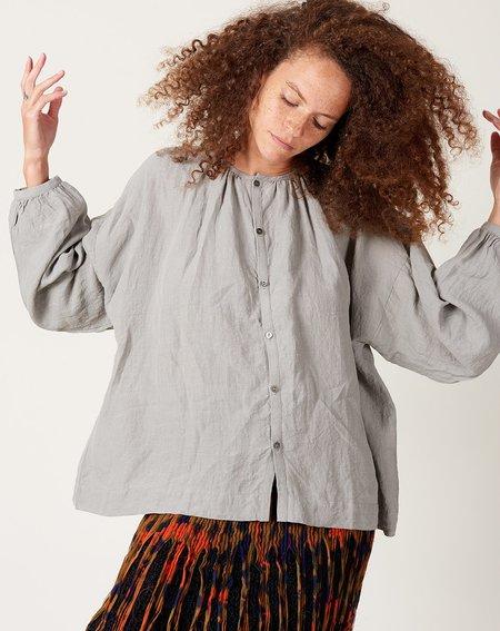 ICHI ANTIQUITES Linen Azumadaki Shirt - Sumi Grey
