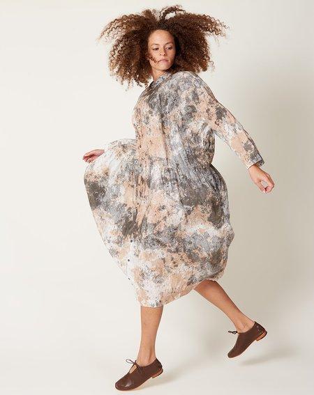ICHI ANTIQUITES Linen Dress - Sumi Persimmon