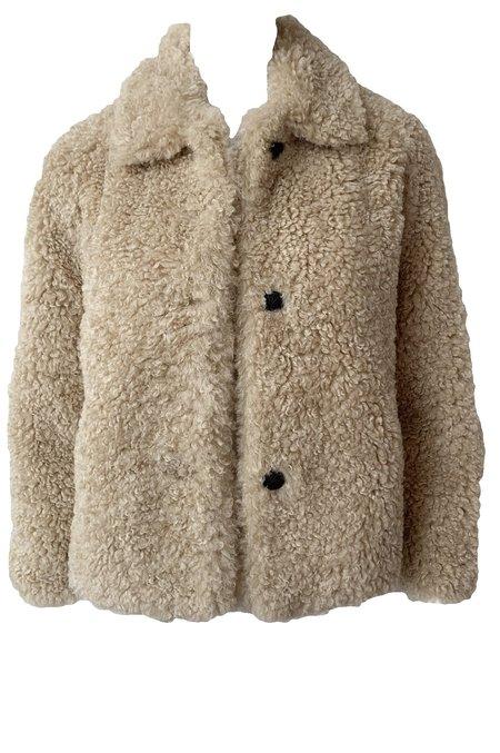 Rag & Bone Hesper Faux Fur Coat - Beige