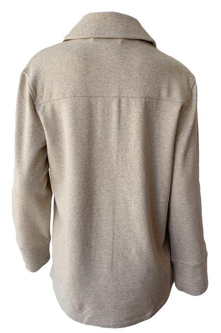VINCE Oversized Shirt Jacket - Heather White Sand