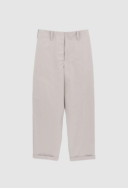 JULIA JENTZSCH TOM Cotton Twill Taupe Trousers - Light Taupe