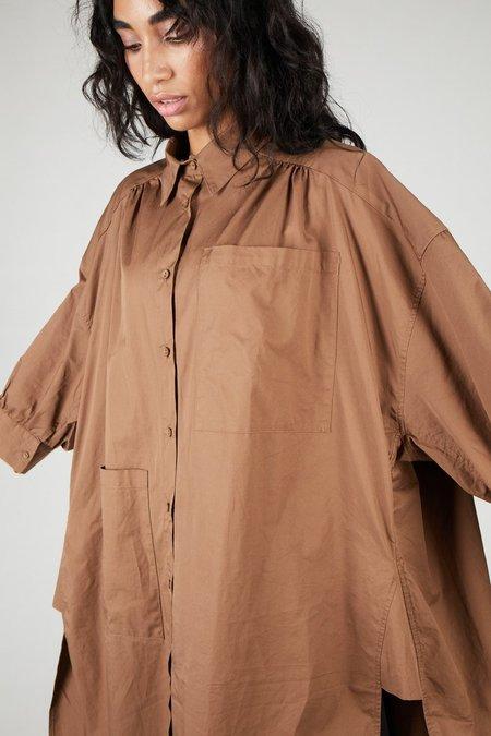 INTENTIONALLY __________ EFFO Shirt Dress - Brown