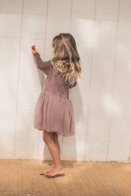 Kids Raised By Water Ren Dress - Deep Taupe