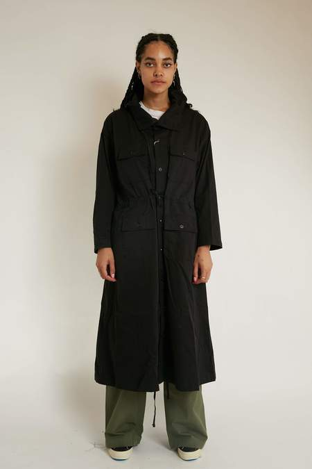 Engineered Garments Women's Cagoule Dress - Black Cotton Micro Sanded Twill