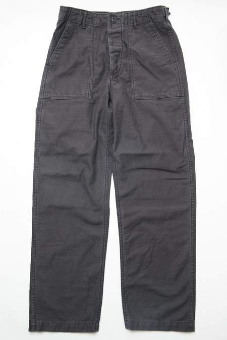 OrSlow Regular Fit US Army Fatigue Pants - BLACK STONE