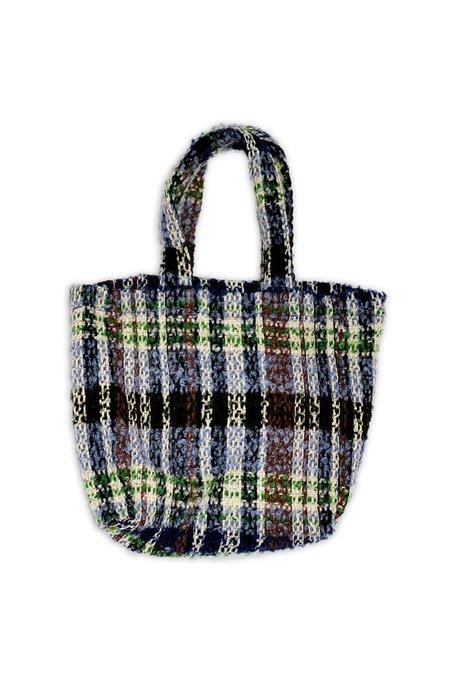 Technicolor Tartan Tote Bag - Slate Blue