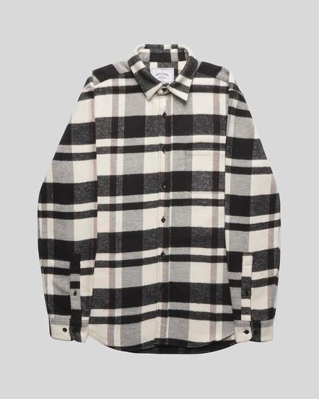 Portuguese Flannel Bonefire Shirt - Black/White/Red