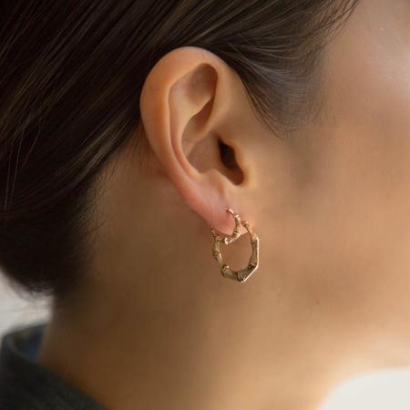 Jennie Kwon Designs Mini Round Jkd Doorknockers earrings - Gold