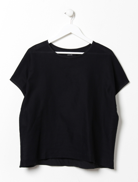 Lemaire Loose Mesh Black Tee