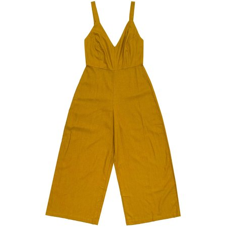 Ali Golden FITTED JUMPSUIT - MUSTARD
