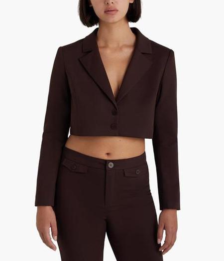 Paloma Wool Yo Cropped Jacket - White/Tan