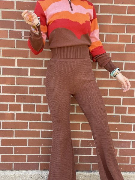 Another Girl Zig Zag Flares - Brown