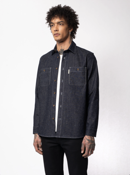 Nudie Jeans Sven Dry Bamboo Selvage Shirt