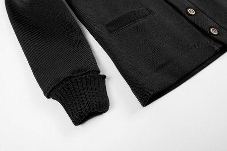 Dehen Wool Classic Cardigan Sweater - Black