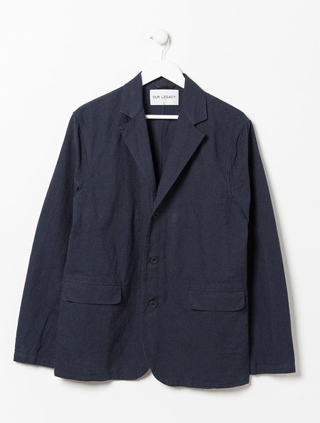 Our Legacy Navy Archive Blazer