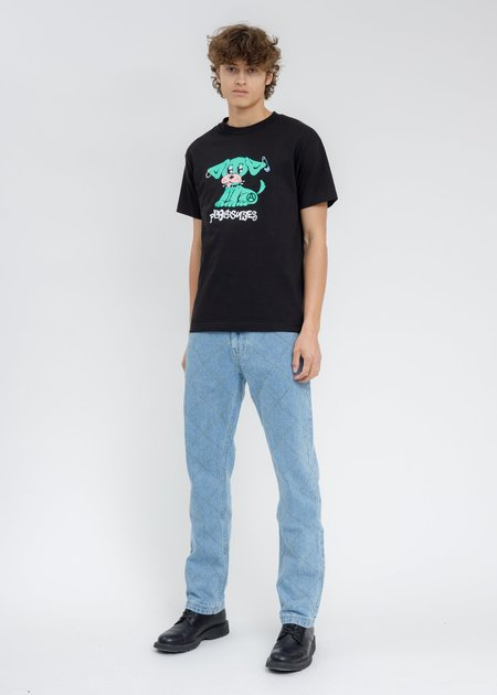 PLEASURES  Ruff T-Shirt - BLACK