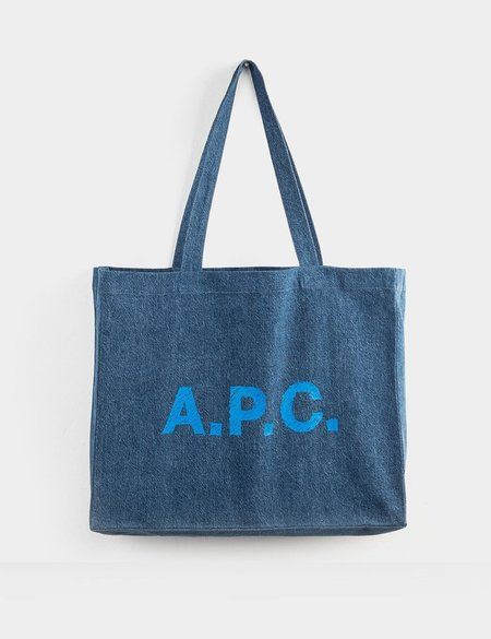 A.P.C. Diane Shopping Bag - Navy Blue