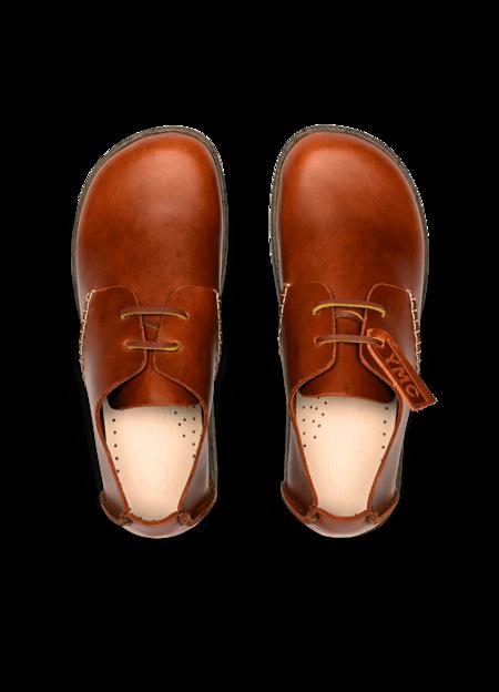Kids Yogi x YMC Women's Orson Leather Shoes - Tan