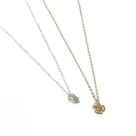 Katye Landry Mini Knot Necklace - Sterling Silver