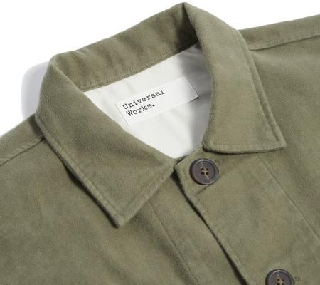 Universal Works Lightweight Moleskin Dockside Jacket - Olive