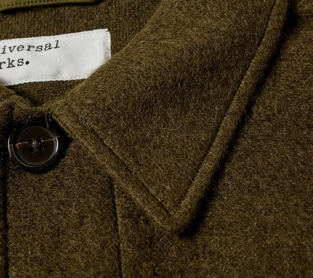 Universal Works Lumber Wool Fleece Jacket - Olive