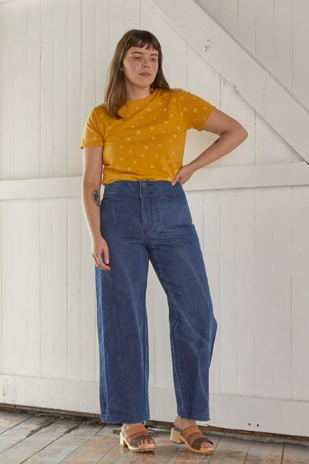 North Of West Taylor Tee - Golden Dots Print