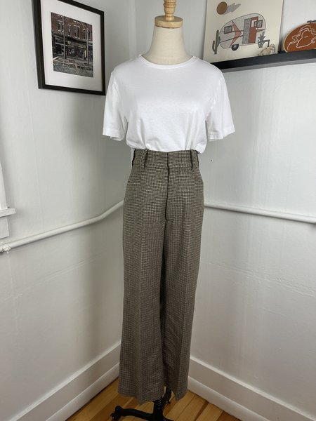 [PRE-LOVED] Re/Done Wool Houndstooth Trousers -Beige