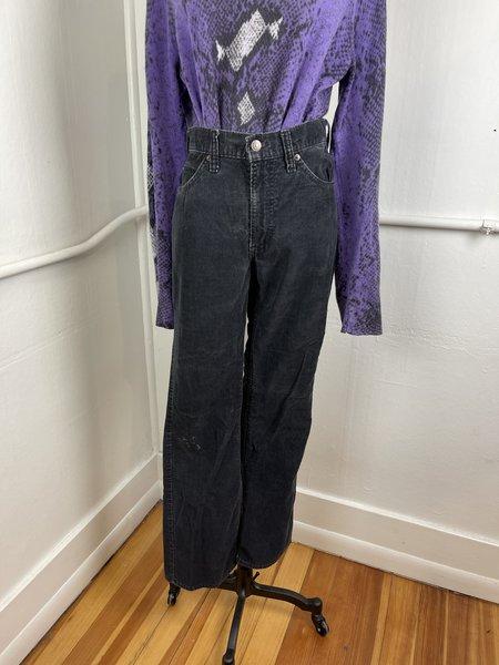 Vintage Levi's White Label Cord 517s pants - washed black