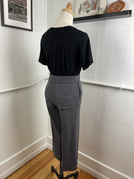 [PRE-LOVED] White + Warren Merino Wool Trousers - washed grey