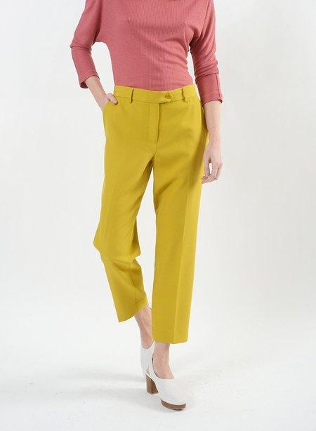 Meg Kai Pant with Button Ext - Mustard
