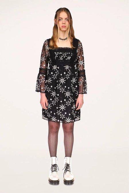 3D Floral Embroidery Dress -PRINTS