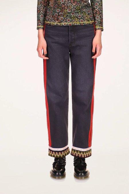 Trimmed Jeans -Black